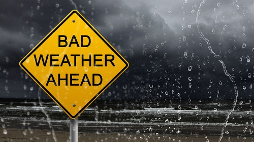 Slecht weer storm regen