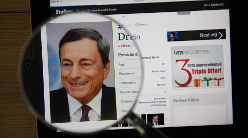 Mario Draghi bepaalt de richting van de beurs