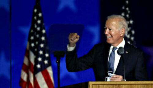 Koersen spoten omhoog toen duidelijk werd dat de Democratische presidentskandidaat Joe Biden de nieuwe president van de VS zou worden