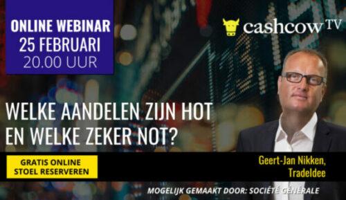 CashcowTV: 'Welke aandelen zijn hot en welke zeker not?'
