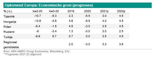 Visie op Opkomend Europa 2021 – Gematigd herstel, grote variatie